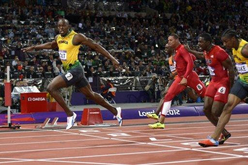 Jamaica's Usain Bolt wins the men's 100m final