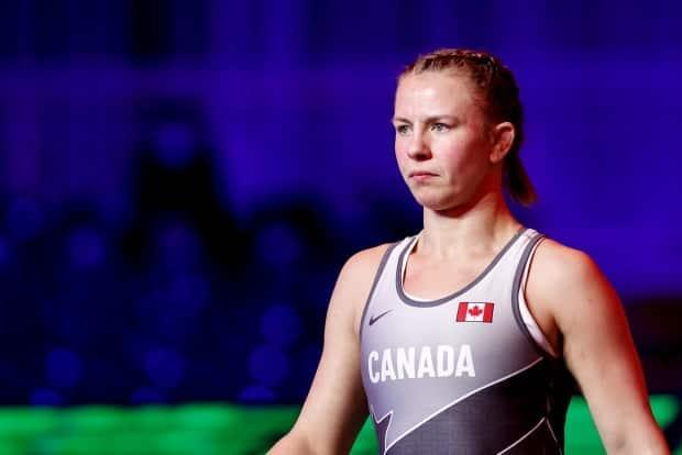 Canadian wrestler Erica Wiebe defeated Samar Amer Ibrahim Hamza of Egypt 10-0 in the 76 kg gold medal match at the Matteo Pellicone Ranking Series event in Rome, Italy. (@WrestlingCanada/Twitter - image credit)