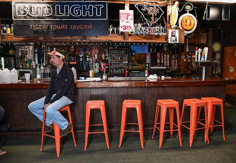 Cameron Farish, co-owner of Tiger Town Tavern in Clemson, S.C., mourns the loss of business from Clemson University during the coronavirus pandemic.