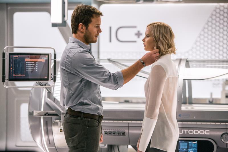 Lawrence… reckons she didn't spot the creepy side to the plot of Passengers – Credit: Columbia