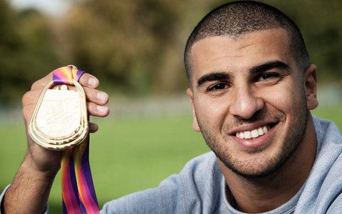 'It was probably the best I've ever felt on the athletics track,' says Gemili of his triumph as part of the men's relay team in August - Credit: Rii Schroer/The Telegraph