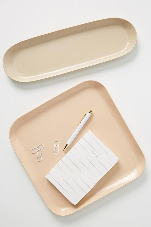 """$58, Anthropologie. <a href=""""https://www.anthropologie.com/shop/sketch-decorative-trays-set-of-2?category=SEARCHRESULTS&color=066"""">Get it now!</a>"""