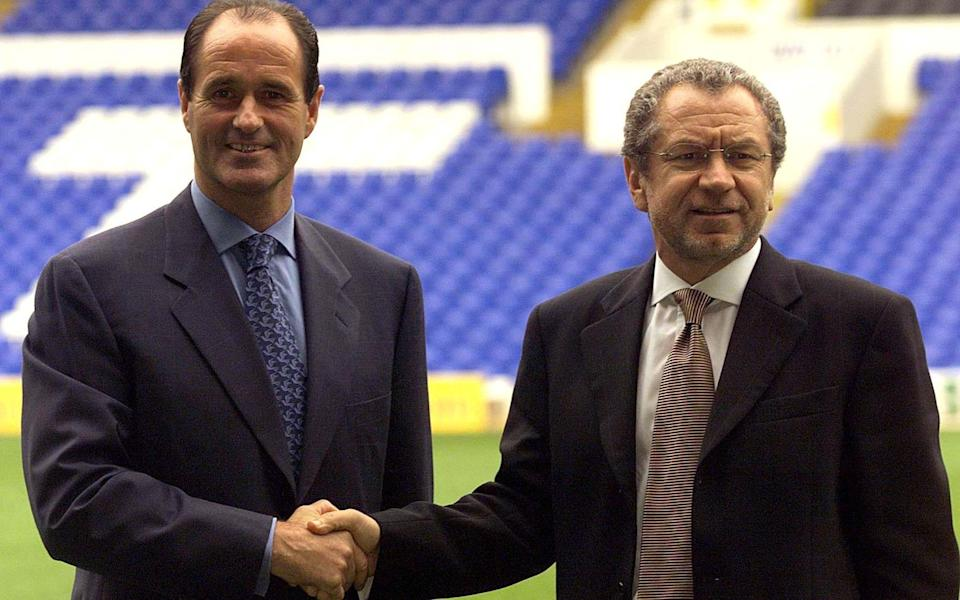 Sugar when chairman of Tottenham appointing George Graham as manager - Reuters