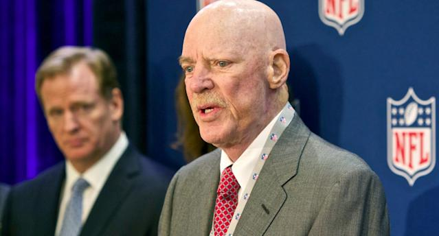 "Texans' Bob McNair is in hot water over ""inmate"" comments. (AP)"