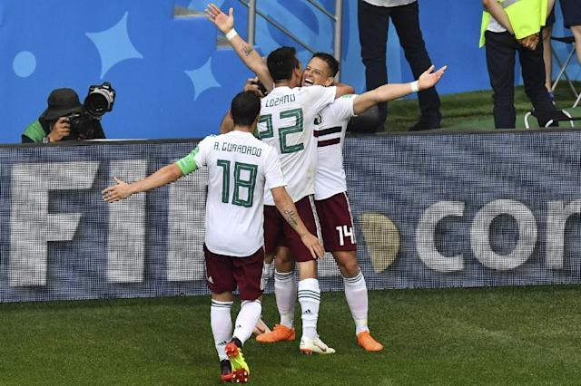 Javier Hernandez was a constant menace for Mexico (AFP Photo/PASCAL GUYOT)
