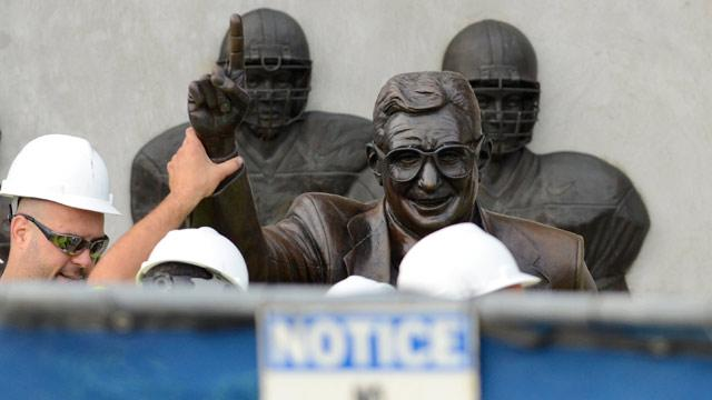 Joe Paterno Statue Removed at Penn State