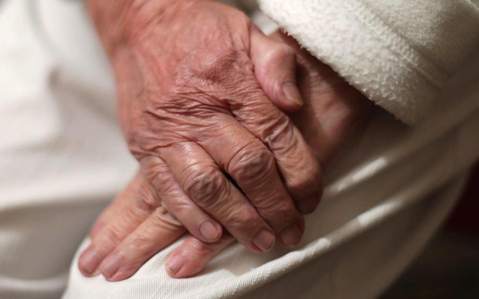 "Embargoed to 0001 Tuesday September 22 File photo dated 22/12/16 of an elderly woman's hands. The Social Market Foundation has said that an independent body should be created to oversee and regulate the social care market to prevent ""unfair outcomes"". PA Photo. Issue date: Tuesday September 22, 2020. The think tank said that new regulations are needed to ensure older recipients of residential care pay the right price and that there is enough supply from providers. See PA story HEALTH SocialCare.  - Yui Mok/PA Wire"