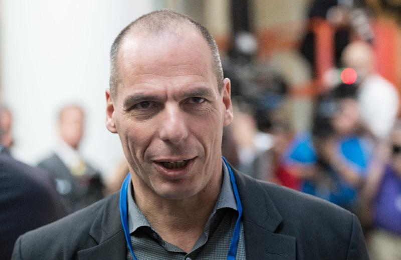 Greek Finance Minister Yanis Varoufakis attends a meeting of the International Monetary and Financial Committee (IMFC) in Washington, DC, on April 18, 2015