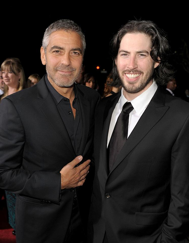 """<a href=""""http://movies.yahoo.com/movie/contributor/1800019715"""">George Clooney</a> and <a href=""""http://movies.yahoo.com/movie/contributor/1804141701"""">Jason Reitman</a> at the Los Angeles premiere of <a href=""""http://movies.yahoo.com/movie/1810062520/info"""">Up in the Air</a> - 11/30/2009"""