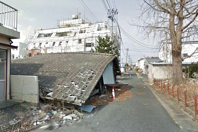 Namie town, Japan, just north of the failed Fukushima nuclear power plant. Google recently sent its Street View team into Namie, still within the nuclear exclusion zone, to document the empty streets and fields, deserted now for more than two years.