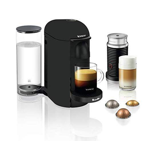"""<p><strong>Breville-Nespresso USA</strong></p><p>bestbuy.com</p><p><strong>$229.99</strong></p><p><a href=""""https://go.redirectingat.com?id=74968X1596630&url=https%3A%2F%2Fwww.bestbuy.com%2Fsite%2Fnespresso-breville-vertuoplus-limited-edition-coffee-maker-and-espresso-machine-with-aeroccino-milk-frother-matte-black%2F6310558.p%3FskuId%3D6310558&sref=https%3A%2F%2Fwww.goodhousekeeping.com%2Fappliances%2Fcoffee-maker-reviews%2Fg29069348%2Fbest-espresso-machines%2F"""" rel=""""nofollow noopener"""" target=""""_blank"""" data-ylk=""""slk:Shop Now"""" class=""""link rapid-noclick-resp"""">Shop Now</a></p><p>First, we love how easy the Nespresso VertuoPlus is to use. <strong>The lid opens and closes with one touch of the lever, and you can start brewing with the touch of a single button. </strong>You also won't accidentally use the wrong pod: The capsule machine uses a special system to detect the barcode on the capsule and then brews it exactly how it's supposed to brew. Choose from five drink types, including espresso, double espresso, gran lungo, mug, and alto (<a href=""""https://www.goodhousekeeping.com/travel-products/travel-coffee-mug-reviews/g785/best-travel-coffee-mugs/"""" rel=""""nofollow noopener"""" target=""""_blank"""" data-ylk=""""slk:perfect for your travel mugs"""" class=""""link rapid-noclick-resp"""">perfect for your travel mugs</a>).</p><p> In our tests, every cup of coffee came out hot and rounded with a luxurious crema. We also like that the position of the water tank can be moved around to accommodate any size counter space. Another noteworthy perk is that Nespresso <a href=""""https://go.redirectingat.com?id=74968X1596630&url=https%3A%2F%2Fwww.nespresso.com%2Fus%2Fen%2Fhow-to-recycle-coffee-capsules&sref=https%3A%2F%2Fwww.goodhousekeeping.com%2Fappliances%2Fcoffee-maker-reviews%2Fg29069348%2Fbest-espresso-machines%2F"""" rel=""""nofollow noopener"""" target=""""_blank"""" data-ylk=""""slk:recycles used pods"""" class=""""link rapid-noclick-resp"""">recycles used pods</a> if you send them back to the company. Finally, you can't beat t"""