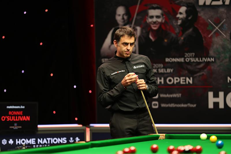 Six-time world champion O'Sullivan sported bright pink nails in support of breast cancer charity Future Dreams