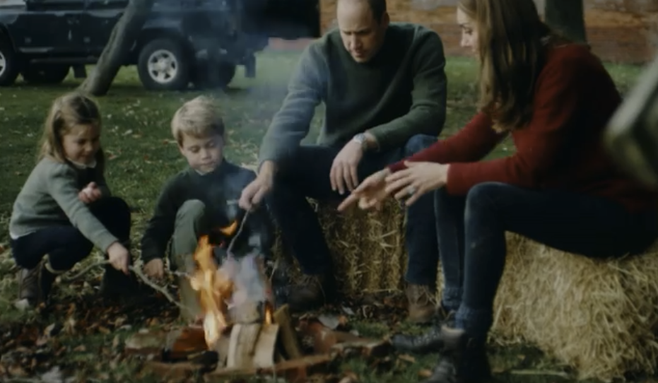Kate Middleton and Prince William roast marshmallows with their children