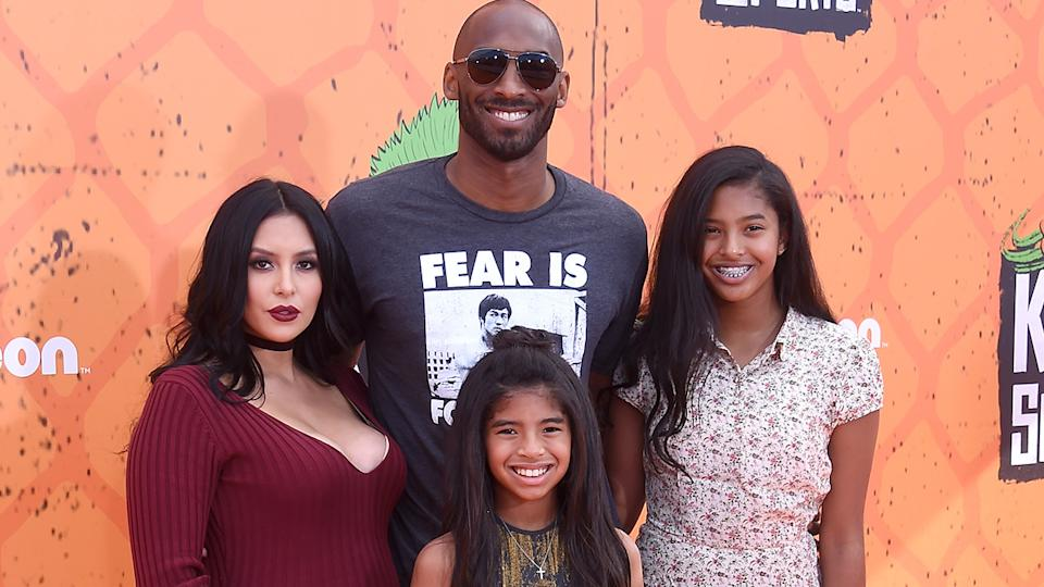 Kobe Bryant, pictured here with wife Vanessa and daughters Gianna and Natalia in 2016.