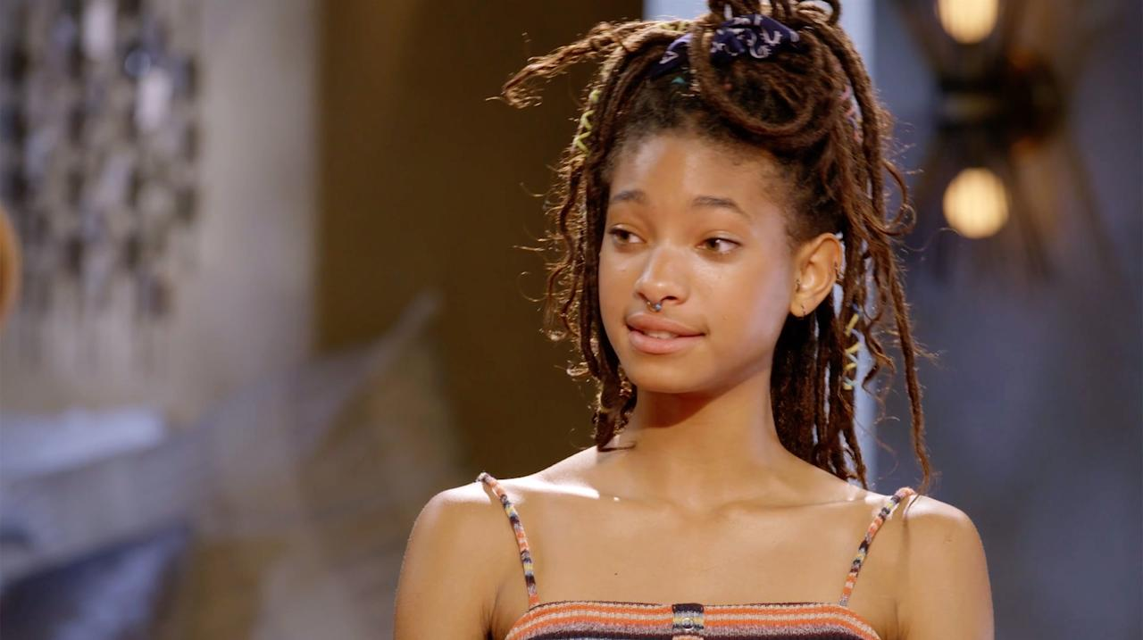 """During<em>Red Table Talk</em>'s first season, the 18-year-old Willow admitted <a href=""""https://people.com/movies/willow-smith-used-to-cut-herself/"""">she began """"cutting"""" herself</a> after the success of her single """"Whip My Hair.""""  """"After the tour and the promotion and all of that, they wanted me to finish my album,"""" she said. """"And I was like, I'm not gonna do that. And after all of that kinda settled down and it was like a kind of lull, I was just listening to a lot of dark music. It was just so crazy and I was plunged into this black hole, and I was cutting myself.""""  She added, """"But like, [I] totally lost my sanity for a moment there. I never talk about it because it was such a short weird point in my life. But you have to pull yourself out of it."""""""