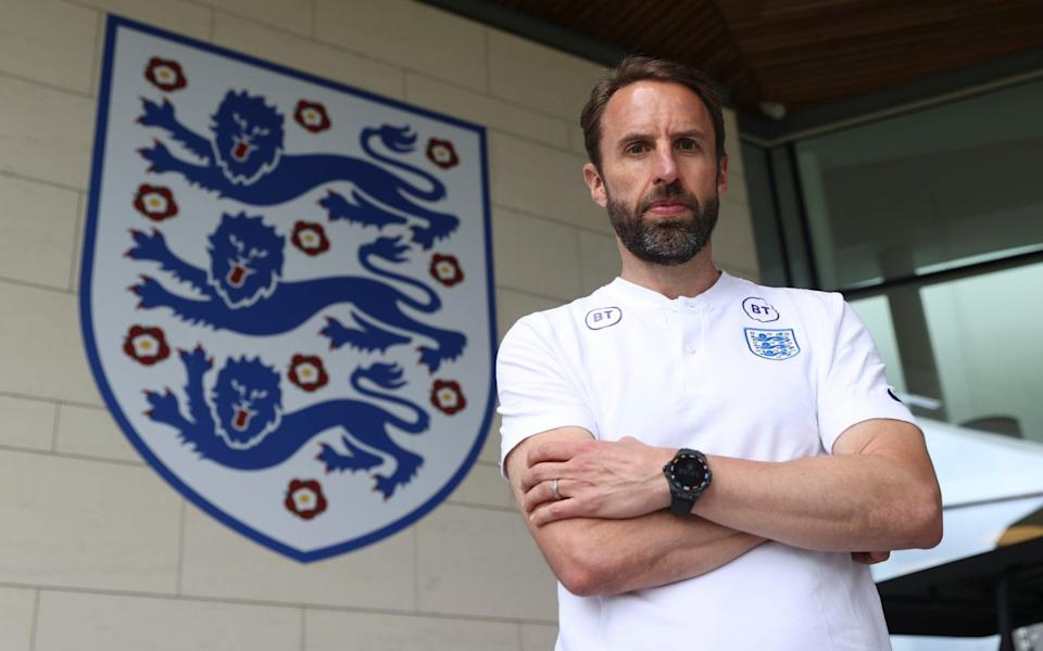 Gareth Southgate, Manager of England poses for a photo at St George's Park on June 09, 2021 - FA via GETTY IMAGES