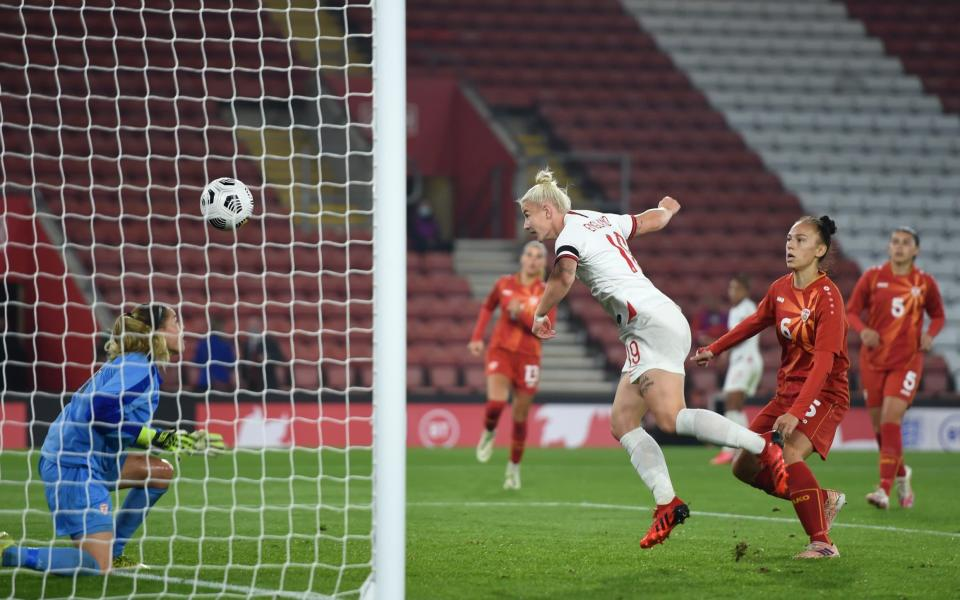 Beth England makes an instant impact, scoring minutes after coming on as a second-half substitute - GETTY IMAGES