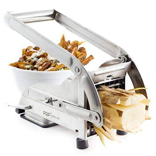 POP AirFry Mate, Stainless Steel French Fry Cutter, Commercial Grade Vegetable and Potato Slicer, Includes 2 Blade Size Cutter Options and No-Slip Suction Base, Perfect for Air Fryer Food Preparation (Amazon / Amazon)