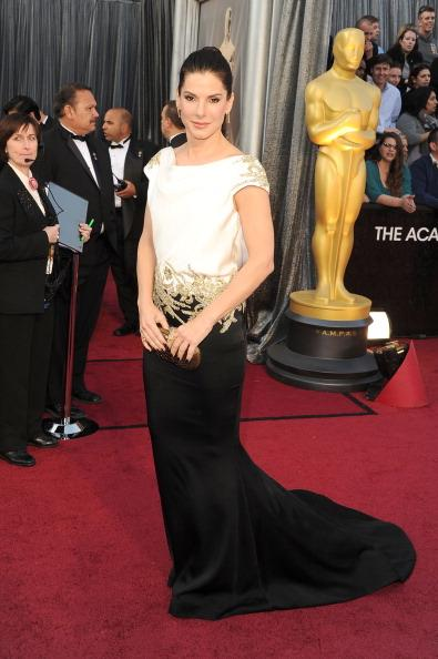 Sandra Bullock walks the red carpet at the 84th annual Academy Awards in Los Angeles. Getty Images