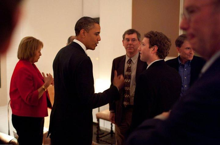 Zuckerberg hangs with people like President Obama