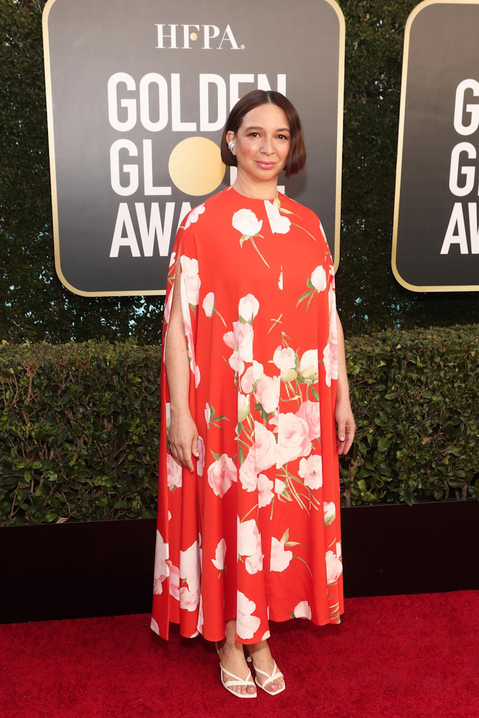 Maya Rudolph attends the 78th Annual Golden Globe Awards held at The Beverly Hilton and broadcast on February 28, 2021 in Beverly Hills, California.