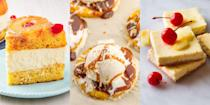 """<p>Nothing makes us happier than a sweet-tasting, delicious <a href=""""https://www.delish.com/uk/cooking/recipes/a34902462/pineapple-grilled-cheese-recipe/"""" rel=""""nofollow noopener"""" target=""""_blank"""" data-ylk=""""slk:pineapple"""" class=""""link rapid-noclick-resp"""">pineapple</a> dessert. Whether it's a <a href=""""https://www.delish.com/uk/cooking/recipes/a28796716/grilled-pineapple-sundaes-recipes/"""" rel=""""nofollow noopener"""" target=""""_blank"""" data-ylk=""""slk:Grilled Pineapple Sundae"""" class=""""link rapid-noclick-resp"""">Grilled Pineapple Sundae</a> (as good as it sounds), a <a href=""""https://www.delish.com/uk/cooking/recipes/a32312209/easy-pineapple-upside-down-cake-recipe/"""" rel=""""nofollow noopener"""" target=""""_blank"""" data-ylk=""""slk:Pineapple Upside-Down Cake"""" class=""""link rapid-noclick-resp"""">Pineapple Upside-Down Cake</a> or a batch of <a href=""""https://www.delish.com/uk/cooking/recipes/a31257052/fried-pina-colada-rings-recipe/"""" rel=""""nofollow noopener"""" target=""""_blank"""" data-ylk=""""slk:Fried Piña Colada Rings"""" class=""""link rapid-noclick-resp"""">Fried Piña Colada Rings</a>, that fruit can take pretty much any recipe to the next level. So, it only made sense we pulled together a round-up of our favourite pineapple desserts. For a selection of super easy ways to use up that pineapple, keep reading... </p>"""