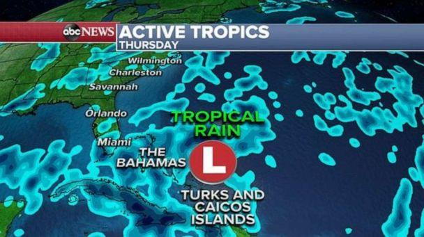 PHOTO: Tropical rain is expected on Thursday. (ABC News)