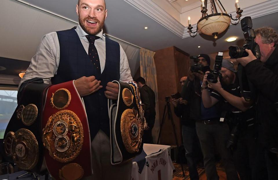Throughout his career, the boxing giant has collected all the heavyweight belts available at separate times. He is currently the WBC heavyweight champion of the world, Ring champion and lineal heavyweight champion.