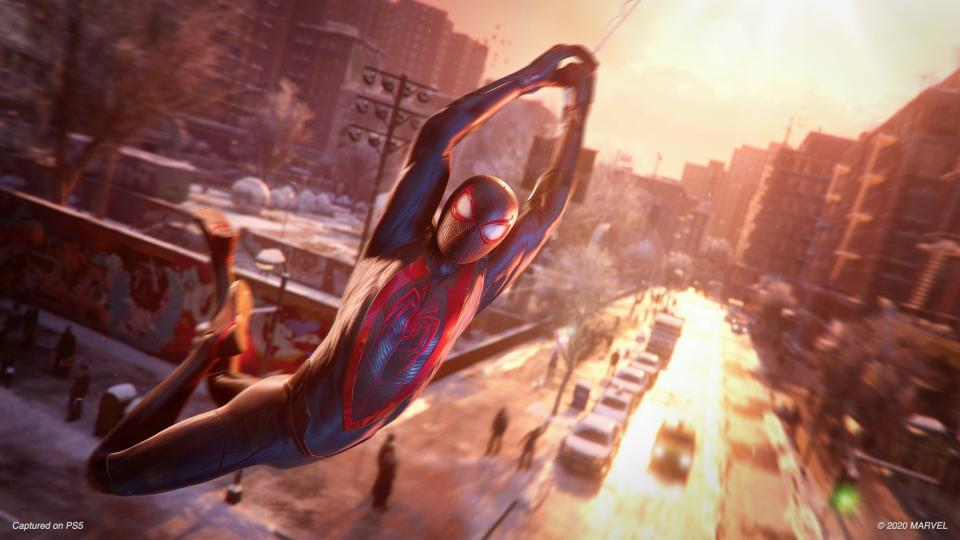 'Spider-Man: Miles Morales' helps the PS5's new capabilities shine including its ray tracing and incredibly fast load times. (Image: Sony)