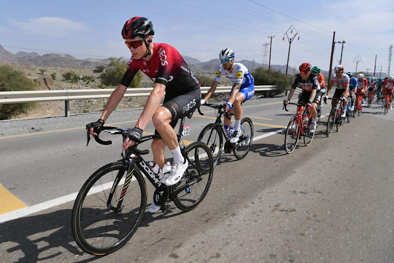 Chris Froome in the pack