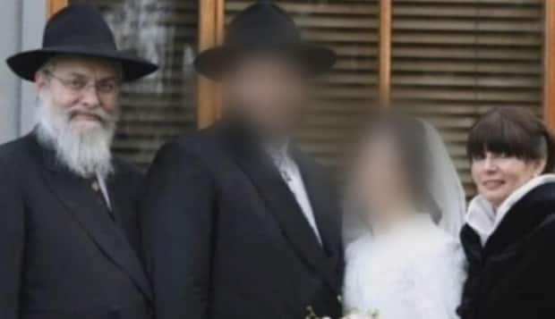 The bodies of Canadian Ingrid Ainsworth, far right, and her husband, Tzvi, far left, have been recovered from the rubble of a collapsed condo in southern Florida. (chabad.org - image credit)