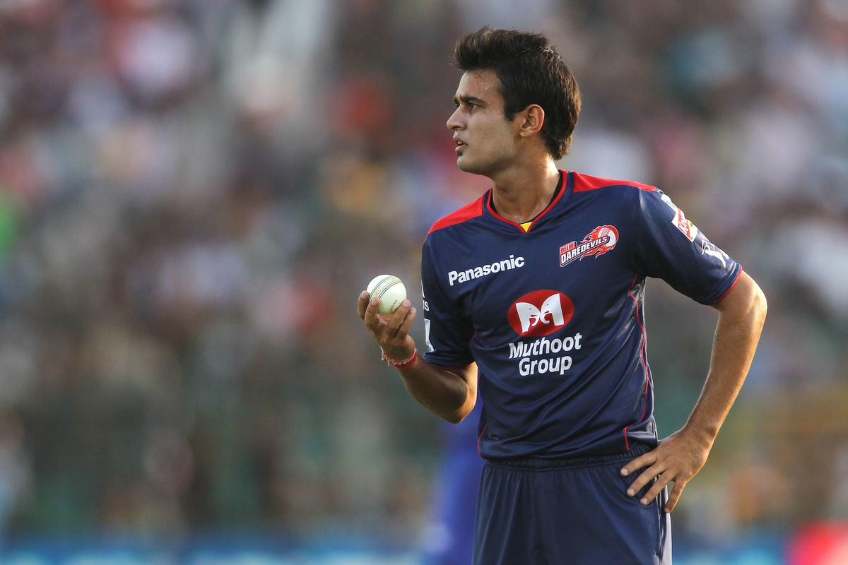 Siddarth Kaul of Delhi Daredevils during match 52 of the Pepsi Indian Premier League (IPL) 2013 between The Rajasthan Royals and the Delhi Daredevils held at the Sawai Mansingh Stadium in Jaipur on the 7th May 2013..Photo by Shaun Roy-IPL-SPORTZPICS  ..Use of this image is subject to the terms and conditions as outlined by the BCCI. These terms can be found by following this link:..https://ec.yimg.com/ec?url=http%3a%2f%2fwww.sportzpics.co.za%2fimage%2fI0000SoRagM2cIEc&t=1498461428&sig=yErgy2isu2gKisZtWSXTxg--~C