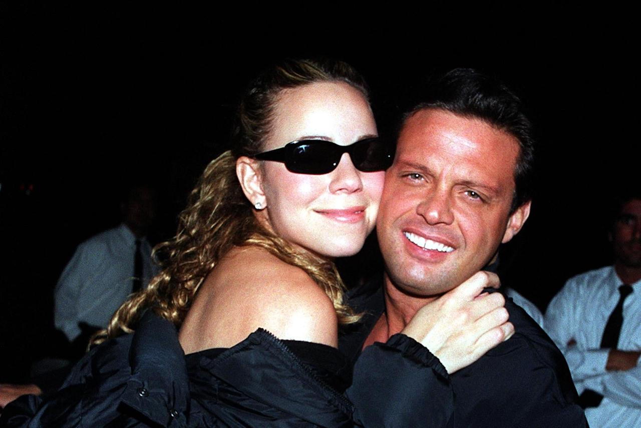 """<p>According to Marc Shapiro's 2001 biography, <strong><a class=""""sugar-inline-link ga-track"""" title=""""Latest photos and news for Mariah Carey"""" href=""""https://www.popsugar.com/Mariah-Carey"""" target=""""_blank"""" data-ga-category=""""internal click"""" data-ga-label=""""https://www.popsugar.com/Mariah-Carey"""" data-ga-action=""""body text link"""">Mariah Carey</a></strong>, <a href=""""https://books.google.com/books?id=-52eG8YN4tAC&amp;pg=PA117&amp;lpg=PA117&amp;dq=%22mariah+carey%22+%22luis+miguel%22+%22aspen%22+%221998%22&amp;source=bl&amp;ots=6zutER7C-F&amp;sig=ODsW53g8eXcew97RBbe_8VMfjhY&amp;hl=en&amp;sa=X&amp;ved=0ahUKEwjJ4_OTnr3bAhURvlkKHbjxC6UQ6AEIUTAL#v=onepage&amp;q=%22mariah%20carey%22%20%22luis%20miguel%22%20%22aspen%22%20%221998%22&amp;f=false"""" target=""""_blank"""" class=""""ga-track"""" data-ga-category=""""internal click"""" data-ga-label=""""https://books.google.com/books?id=-52eG8YN4tAC&amp;pg=PA117&amp;lpg=PA117&amp;dq=%22mariah+carey%22+%22luis+miguel%22+%22aspen%22+%221998%22&amp;source=bl&amp;ots=6zutER7C-F&amp;sig=ODsW53g8eXcew97RBbe_8VMfjhY&amp;hl=en&amp;sa=X&amp;ved=0ahUKEwjJ4_OTnr3bAhURvlkKHbjxC6UQ6AEIUTAL#v=onepage&amp;q=%22mariah%20carey%22%20%22luis%20miguel%22%20%22aspen%22%20%221998%22&amp;f=false"""" data-ga-action=""""body text link"""">Mariah met Mexican singer Luis Miguel in Aspen, CO</a>, in December 1998. Apparently, the real estate agent who rented Mariah her Aspen home was friends with the person who rented a house to Luis, and the two friends played matchmaker. Things became tense while Mariah was filming <strong>Glitter</strong>, as there were rumors that <a href=""""http://www.allmariah.com/index.asp?id=600"""" target=""""_blank"""" class=""""ga-track"""" data-ga-category=""""internal click"""" data-ga-label=""""http://www.allmariah.com/index.asp?id=600"""" data-ga-action=""""body text link"""">she and co-star Eric Benét (who was dating Halle Berry at the time) were more than friends</a>, which she denied. After three years together, <a href=""""http://remezcla.com/lists/culture/luis-miguel-mariah-carey-relationship/"""" targe"""
