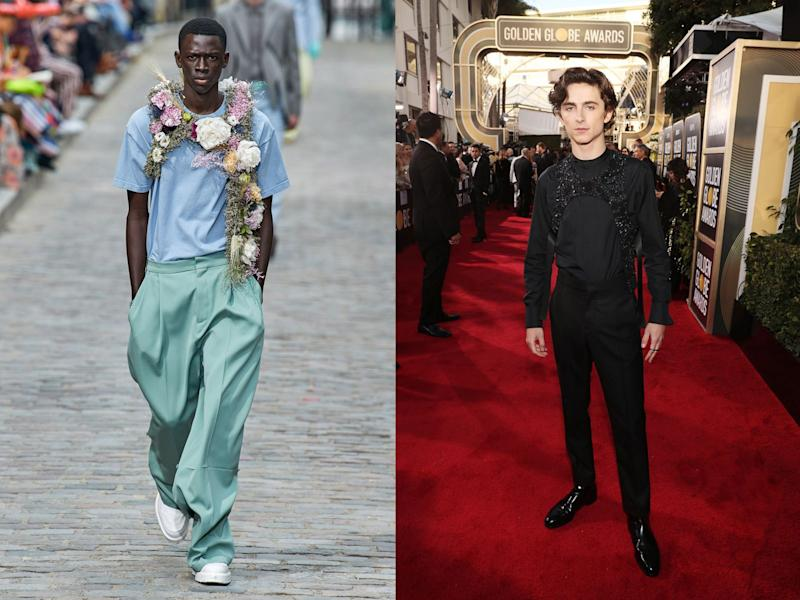 Louis Vuitton Menswear Spring 2019; Timothée Chalamet in 2019