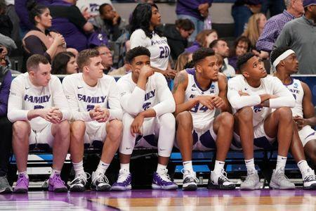 Mar 22, 2019; San Jose, CA, USA; Kansas State Wildcats players react from the bench during the second half in the first round of the 2019 NCAA Tournament against the UC Irvine Anteaters at SAP Center. Mandatory Credit: Kyle Terada-USA TODAY Sports