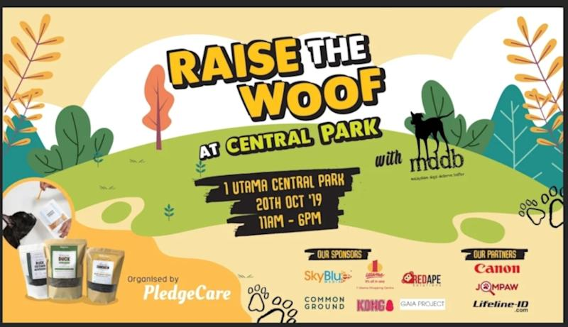 Be sure to bring along your furry companions to the 'Raise the Woof' fundraiser taking place this weekend. — Picture courtesy of Louis Tan