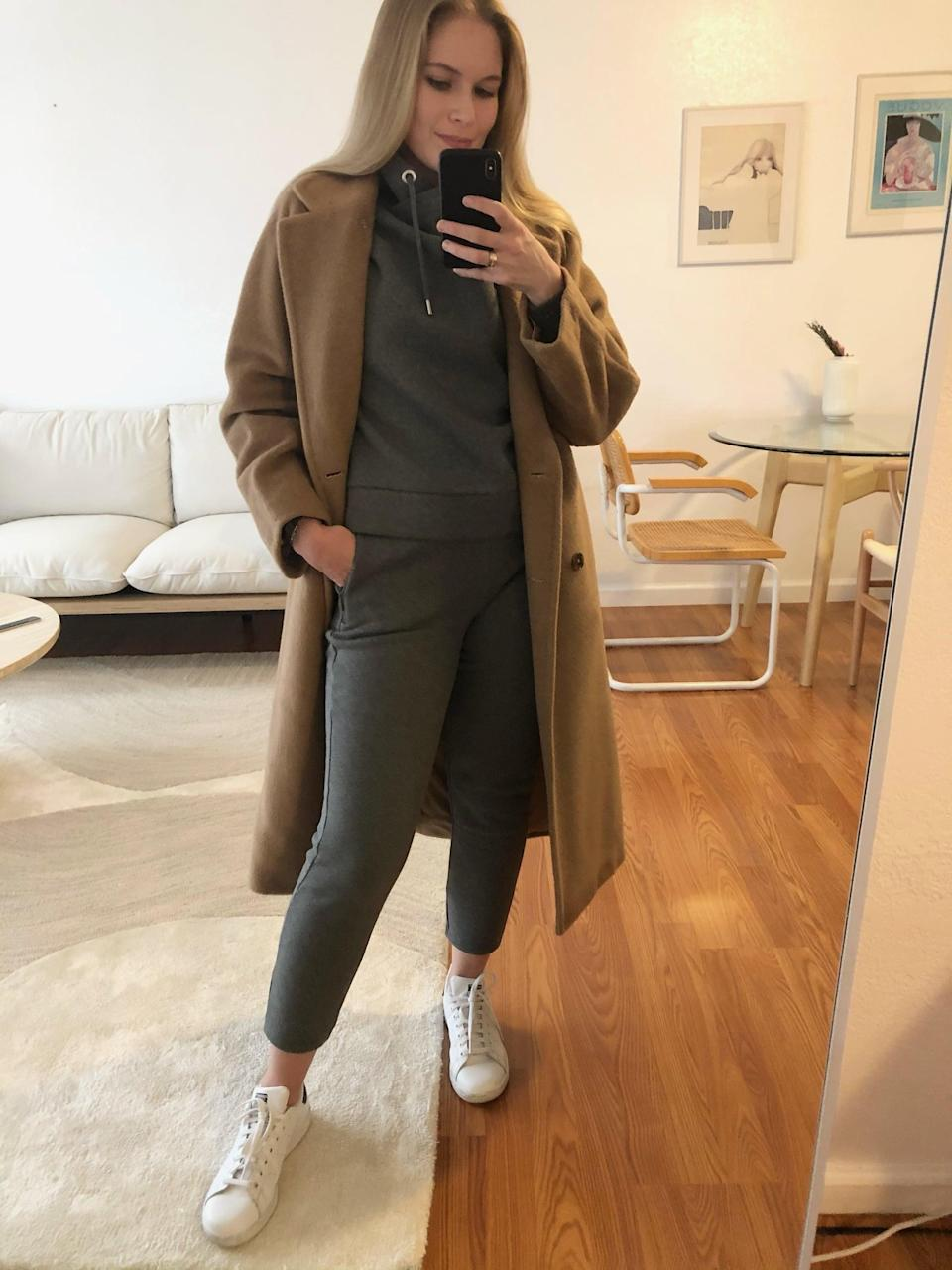 <p>The <span>Funnel-Neck Sweatshirt</span> ($49, originally $55) and <span>Cozy Fleece Commuter Joggers</span> ($70) set is even great to pair with sneakers and a coat for leaving the house.</p>