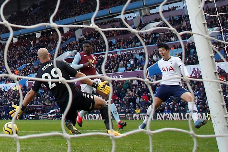 Son scored a late winner as Spurs edged past Villa on Sunday (Action Images via Reuters)