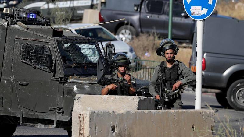 Scene of a Palestinian ramming attack