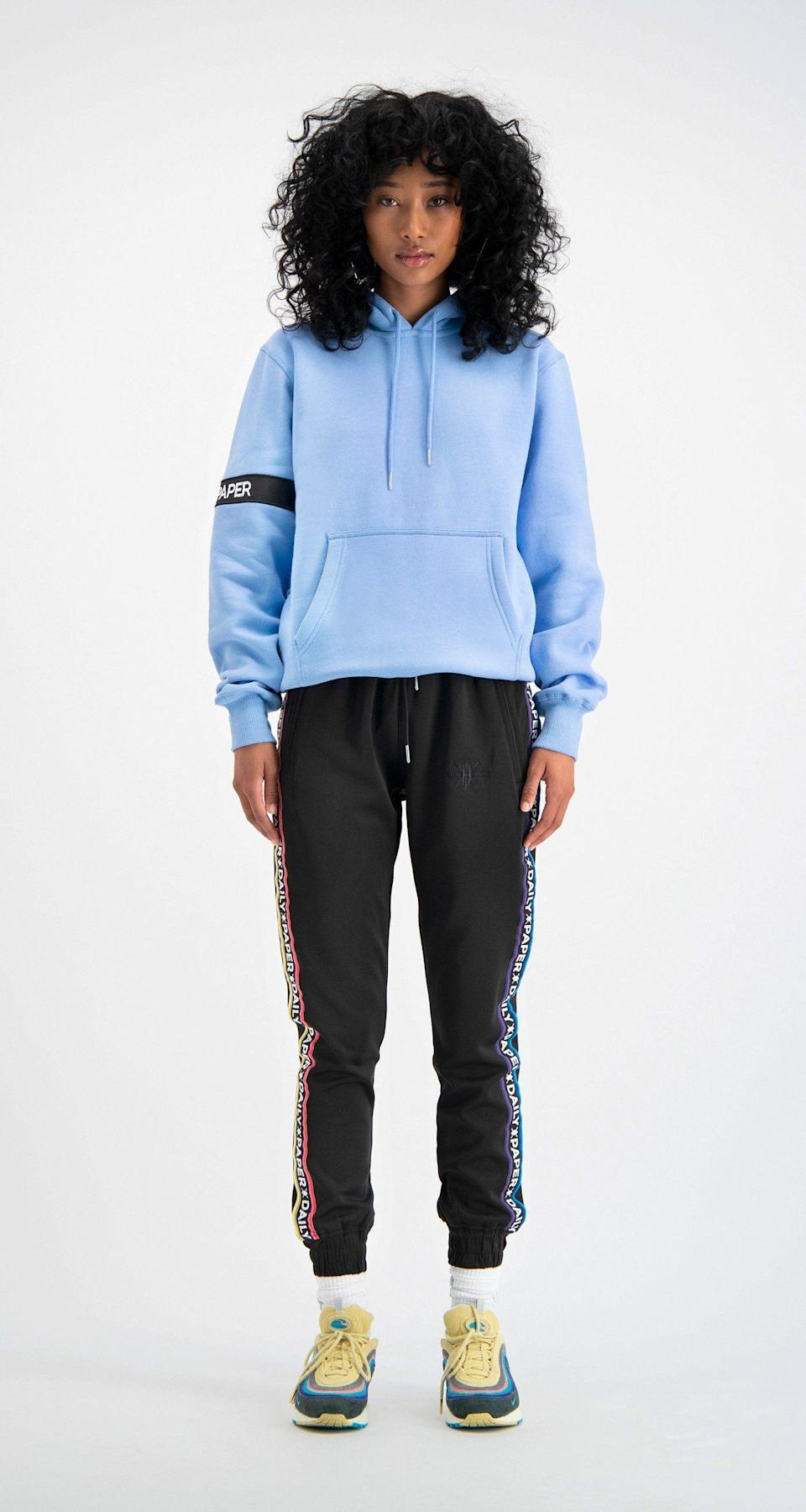 "<p><strong>Daily Paper</strong></p><p>dailypaperclothing.com</p><p><strong>$108.00</strong></p><p><a href=""https://www.dailypaperclothing.com/collections/women-all/products/light-blue-captain-hoody?variant=560213852181"" rel=""nofollow noopener"" target=""_blank"" data-ylk=""slk:Shop Now"" class=""link rapid-noclick-resp"">Shop Now</a></p><p>This classic style hoodie comes in soooo many colors, but the dreamy blue one is *chef's kiss.* </p>"