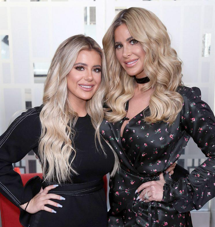 Kim Zolciak (R) and daughter Brielle Biermann