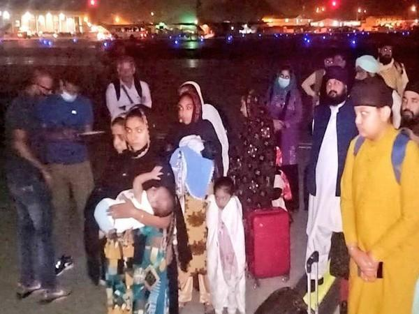 Visual of evacuees who boarded the IAF aircraft.
