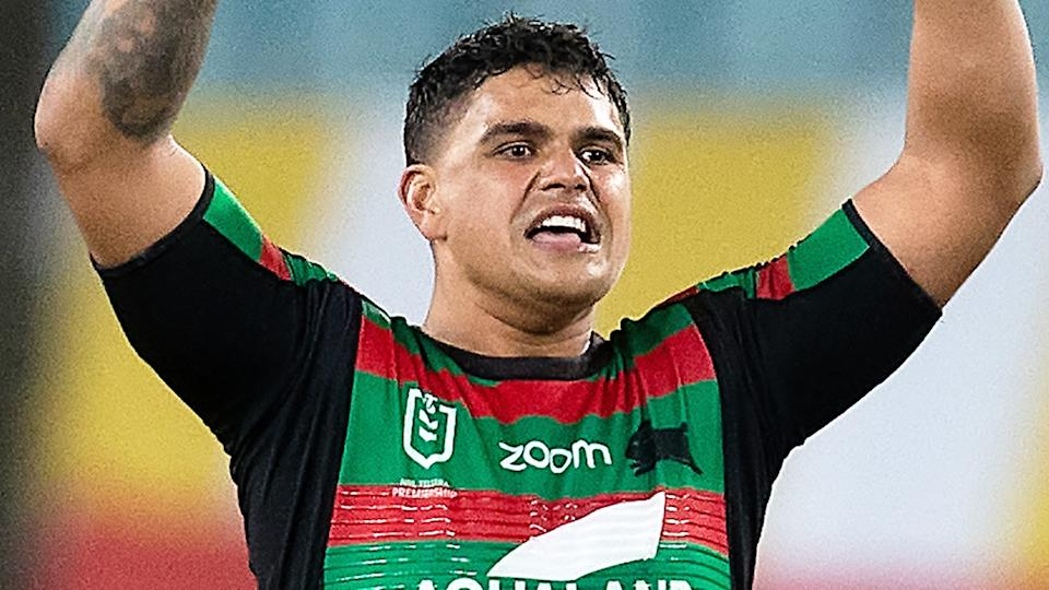 NSW Police have charged two men from the mid-North Coast after they allegedly sent racially abusive messages to NRL player Latrell Mitchell earlier this week. (Photo by Speed Media/Icon Sportswire via Getty Images)