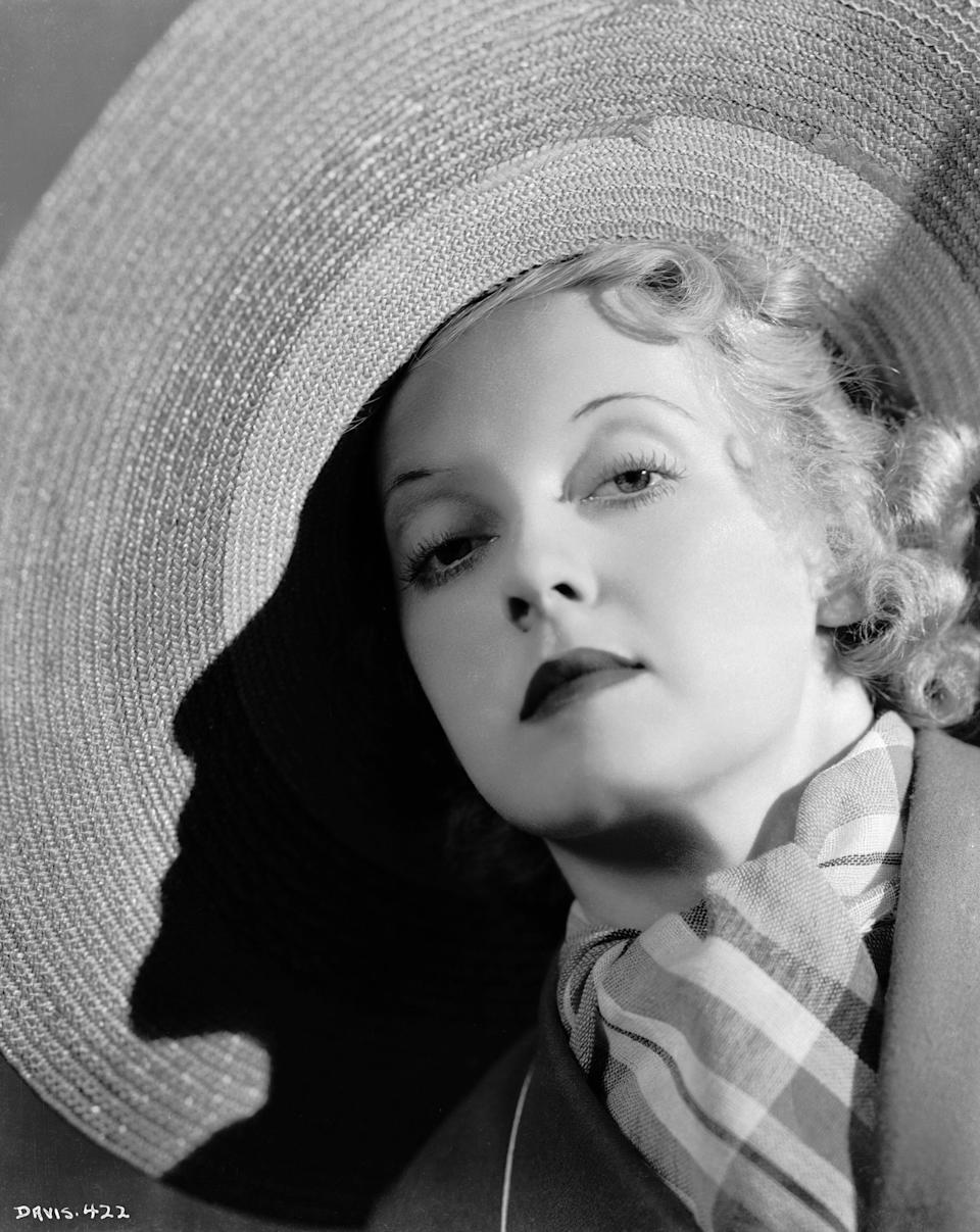 The film star in a photo from around 1935.