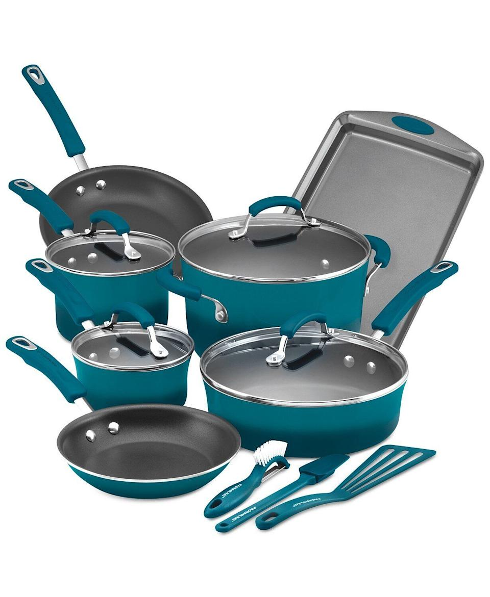 "In deals that made us do a double take, this set is currently more than 70% off. It includes everything from sauce pans to a cookie sheet. <a href=""https://fave.co/32VFE2n"" target=""_blank"" rel=""noopener noreferrer"">Originally $300, get the set now for $80 at Macy's</a>."