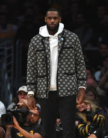 Jan 2, 2019; Los Angeles, CA, USA; Los Angeles Lakers forward LeBron James (23) looks on from the bench in the first half of the game against the Oklahoma City Thunder at Staples Center. Mandatory Credit: Jayne Kamin-Oncea-USA TODAY Sports