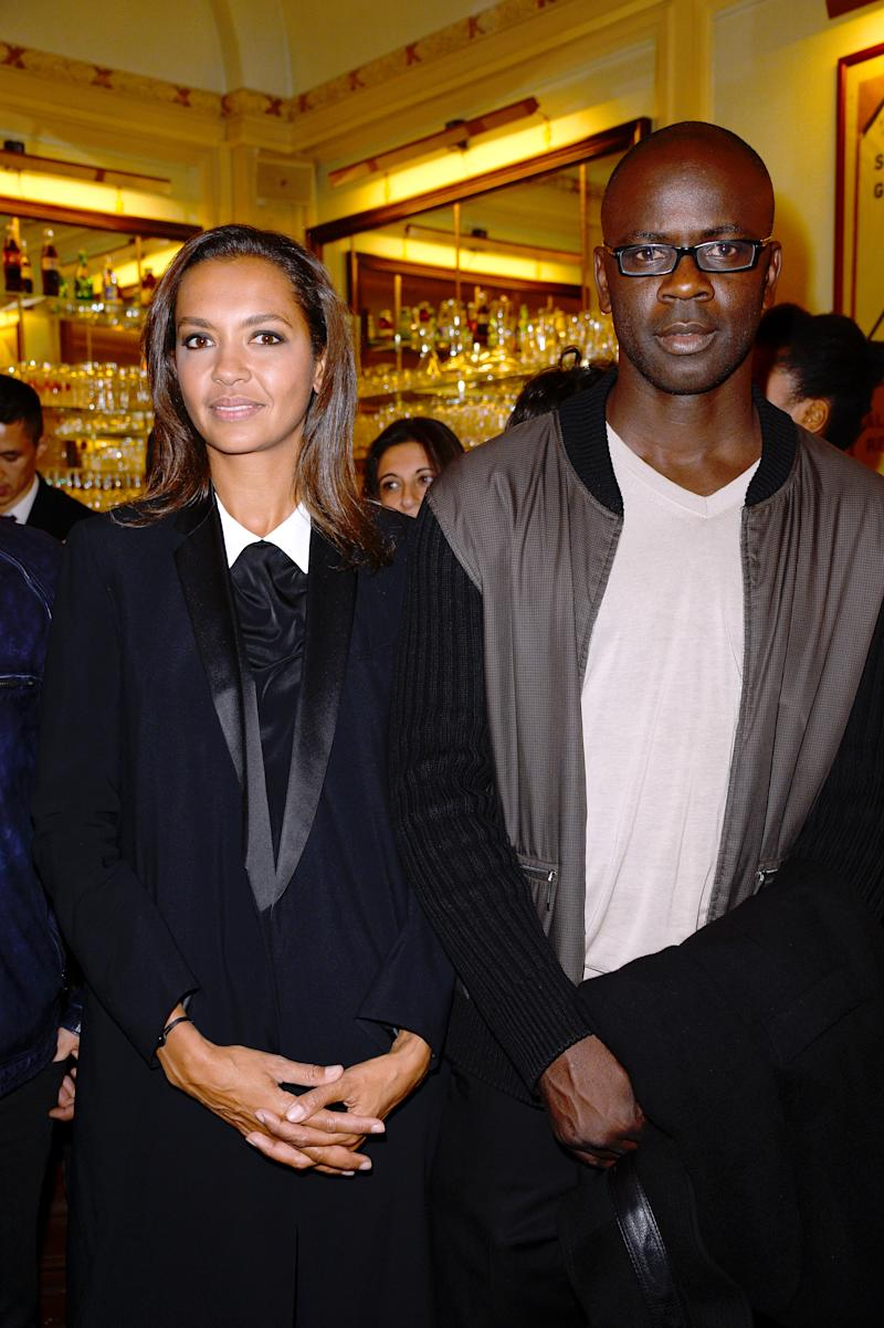 PARIS, FRANCE - JUNE 24: Karine Le Marchand and Lilian Thuram attend the Ary Abittan performance at Theater Edouard VII benefiting 'Un Coeur Pour La Paix' on June 24, 2013 in Paris, France. (Photo by Bertrand Rindoff Petroff/Getty Images)