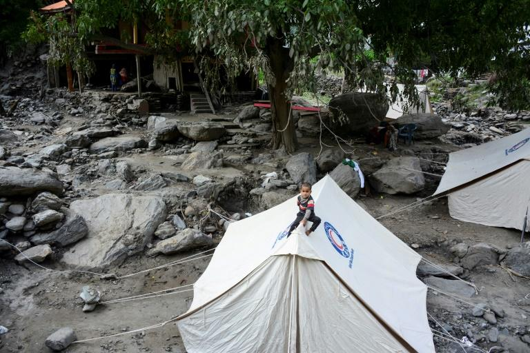 More than 270 people have been killed in recent days across South Asia as monsoon rains deluged large swathes of the subcontinent, including Laswa Valley in Pakistani Kashmir (AFP Photo/SAJJAD QAYYUM)