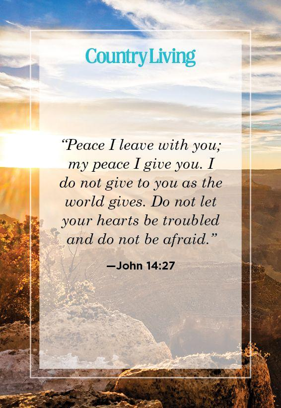"""<p>""""Peace I leave with you; my peace I give you. I do not give to you as the world gives. Do not let your hearts be troubled and do not be afraid.""""</p>"""