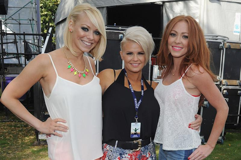 Atomic Kitten: Kerry Katona and Natasha Hamilton with former member Liz McClarnon: Eamonn M. McCormack/Getty Images
